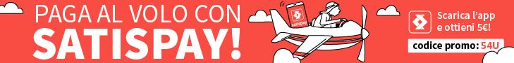 Paga al volo con Satispay!